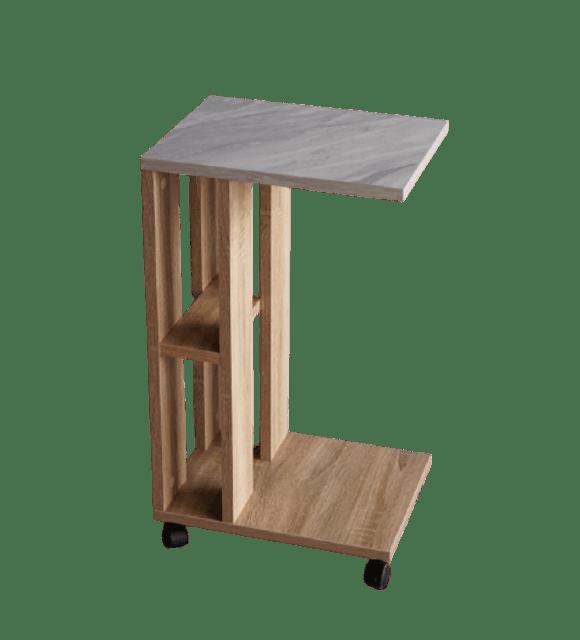Inhome Furniture โต๊ะข้างเตียง แบบมีล้อ รุ่น SS-4055-S-MB 1
