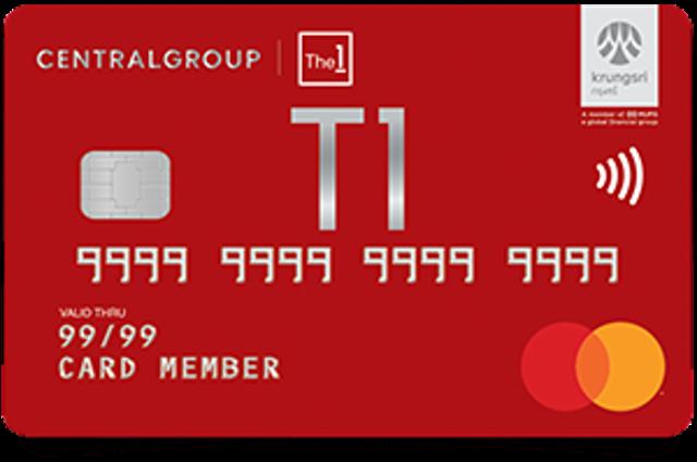 Krungsri Credit Cards & Central The 1 Card บัตรเครดิตกรุงศรี  เซ็นทรัล เดอะวัน เรดซ์ 1