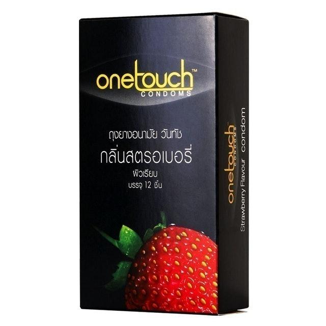 Onetouch ถุงยางอนามัย รุ่น Strawberry Flavored 1