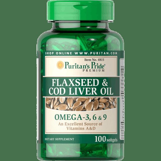 Puritan's Pride Flaxseed & Cod Liver Oil 1