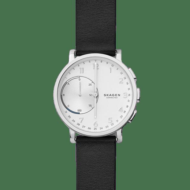 SKAGEN Hagen Connected Leather Hybrid Smartwatch 1
