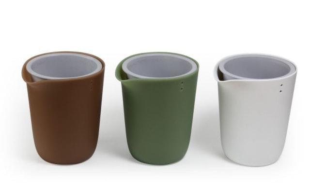 Qualy กระถางต้นไม้ Oasis Round Pot – Self-watering Plant pot 1