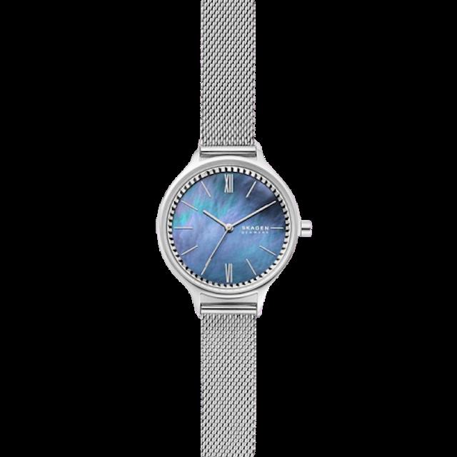 SKAGEN Anita Three-Hand Silver-Tone Steel-Mesh Watch 1