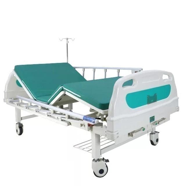 No Brand เตียงผู้ป่วย มือหมุน 2 ไกร์ หัวท้าย ABS ราวสไลด์สูง 1
