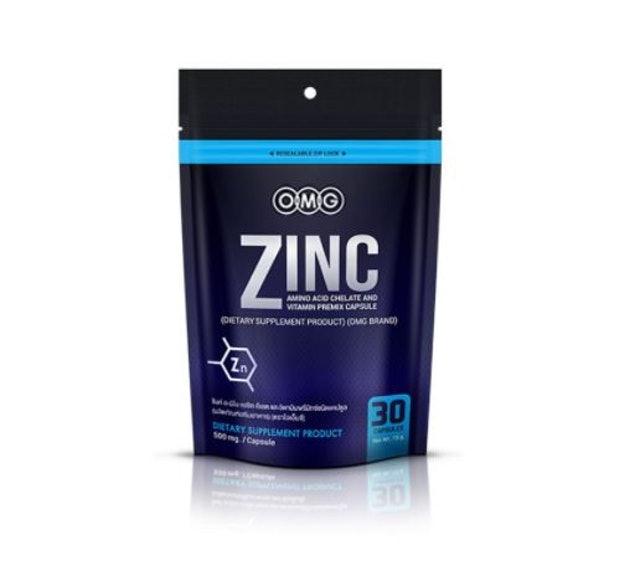 OMG อาหารเสริมลดผมร่าง ZINC  3