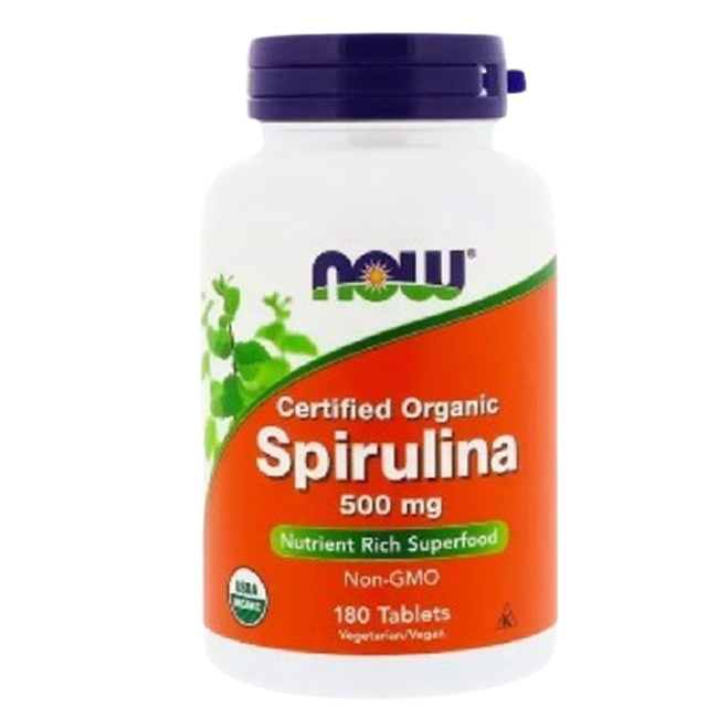 Now Foods สาหร่ายสไปรูลิน่าออร์แกนิค Certified Organic Spirulina 500 mg 1