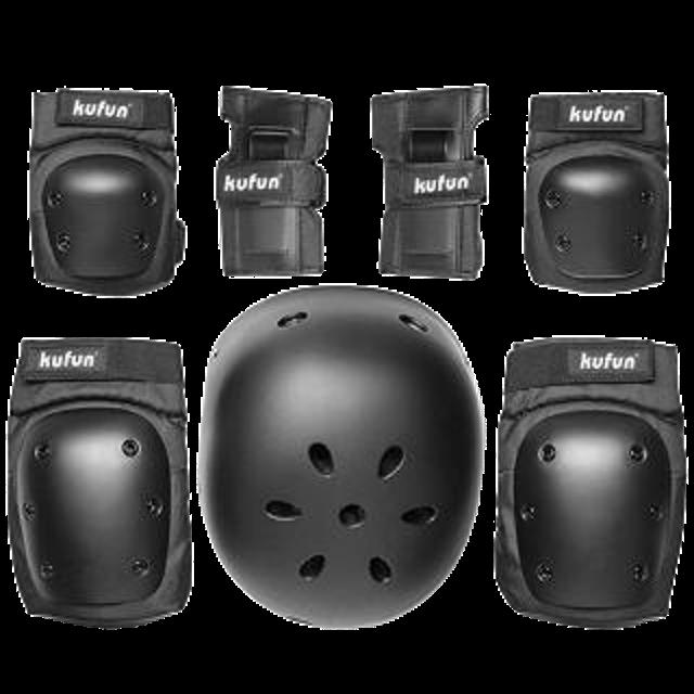 KUFUN หมวกสเก็ตบอร์ด พร้อมอุปกรณ์เสริม สวมใส่เล่นสเก็ต สำหรับผู้ใหญ่และเด็ก 1