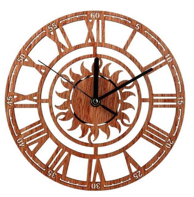 No Brand นาฬิกาแขวนไม้ 1