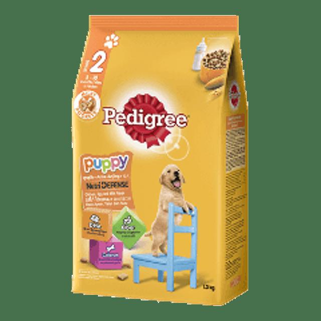 Pedigree อาหารสุนัขชนิดเม็ด สูตรลูกสุนัข รสไก่ไข่และนม 1