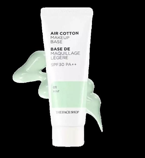 THE FACE SHOP Air Cotton Make Up Base เมคอัพเบส ถูกและดี 1