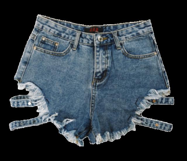 R.A.D.Jeans ชุดไปทะเลผู้หญิง กางเกงยีนส์ขาสั้นแต่งสายปลายขา 1