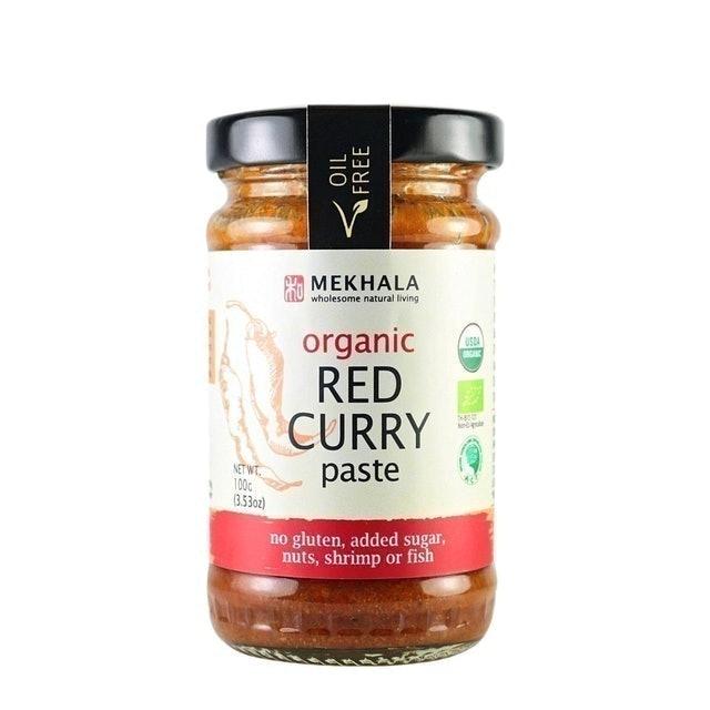 Mekhala พริกแกงเผ็ดสําเร็จรูป ออร์แกนิค Red Curry Paste 1