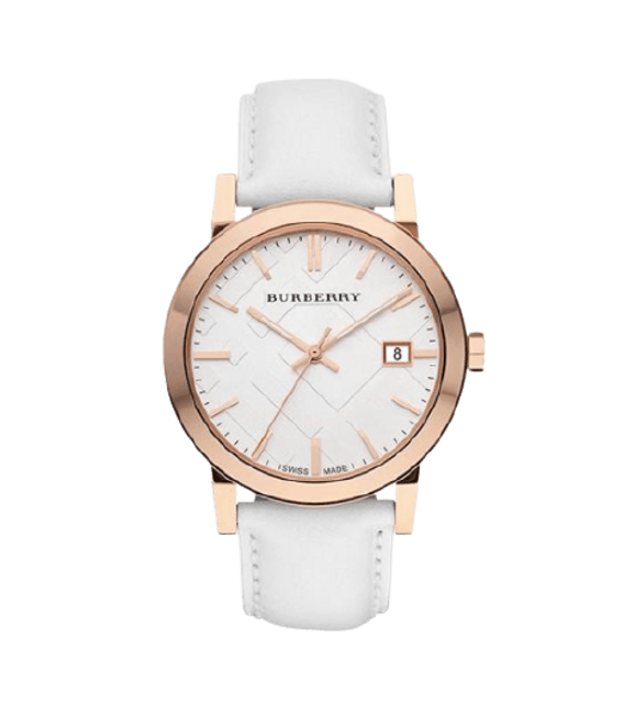 BURBERRY นาฬิกาข้อมือ รุ่น Large Check White Dial 1