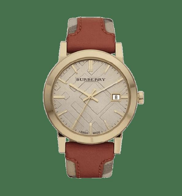 BURBERRY นาฬิกาข้อมือ รุ่น Large Check Leather on Canvas Strap 1