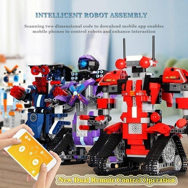 Aolvo  Building Blocks RC Robot Electric Model 1