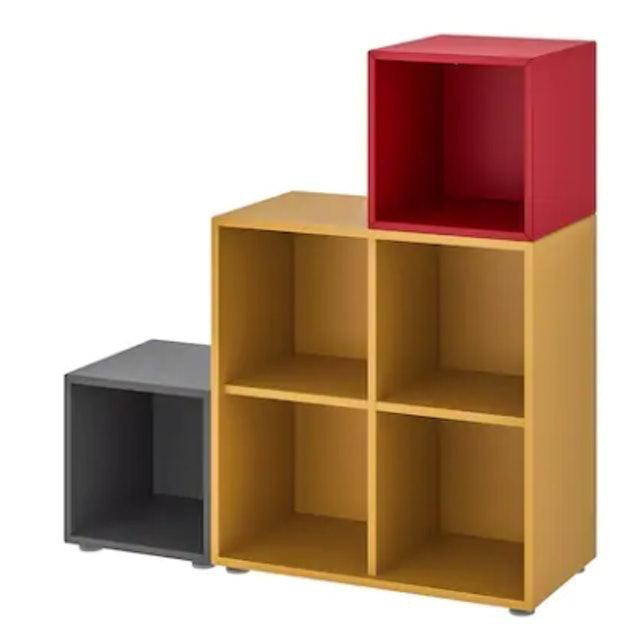 IKEA ตู้หนังสือพร้อมปุ่มรองตู้ รุ่น EKET  1