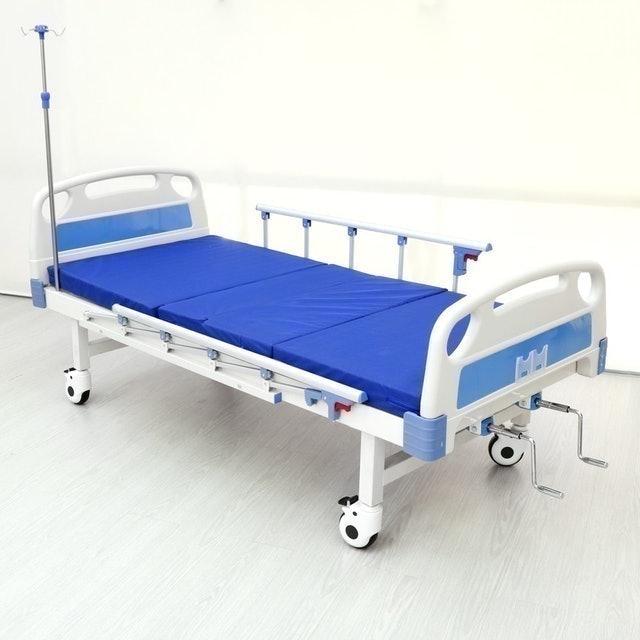 No Brand เตียงผู้ป่วยมือหมุน 2 ไกร์ ล้อล็อคอิสระ 1