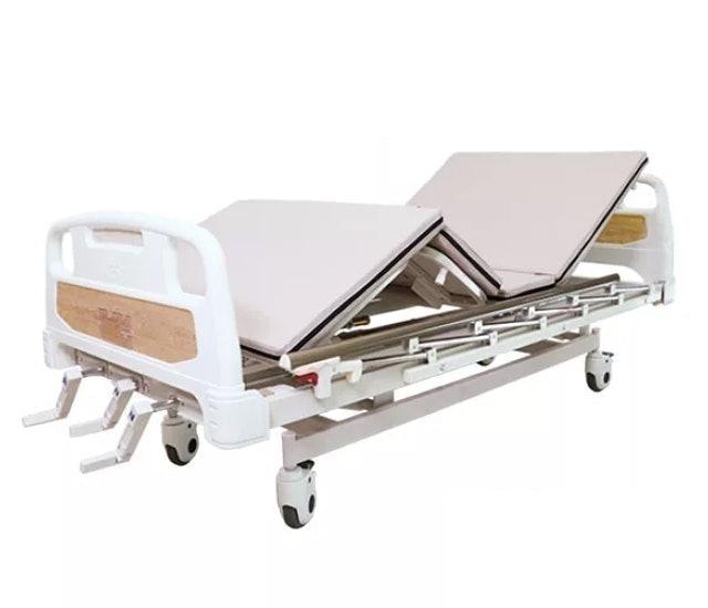 No Brand เตียงผู้ป่วย มือหมุน 3 ไกร์ ราวสไลด์ พร้อมเบาะนอน 4 ตอน 1