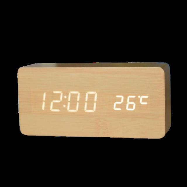 Hakone นาฬิกาปลุก นาฬิกาลายไม้ 1