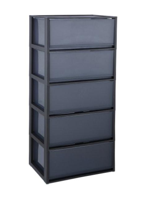 INDEX HOME ตู้ลิ้นชักพลาสติก รุ่น โมลด์ - สีดำ 1