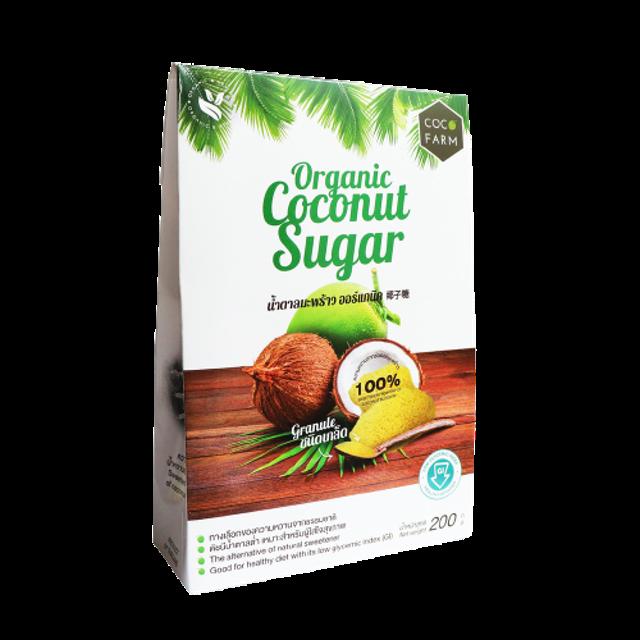Coco Farm น้ำตาลมะพร้าวออร์แกนิคชนิดเกล็ด 1