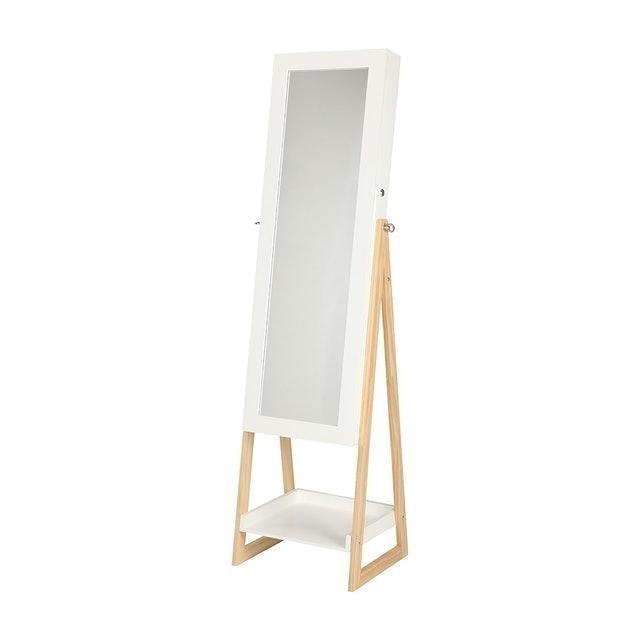 INDEX LIVING MALL กระจกเต็มตัวตั้งพื้น ตู้เครื่องประดับ รุ่น แอมมี่ 1