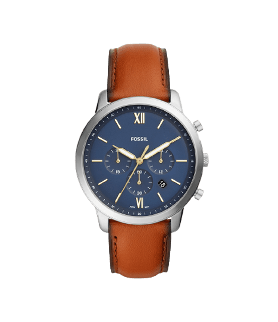 FOSSIL Neutra Chronograph 44mm Brown Watch FS5453 1
