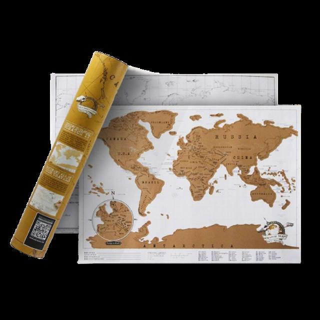 No Brand แผนที่โลกขูดได้ 1