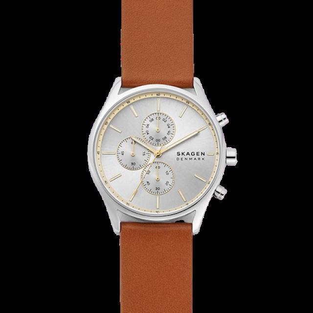SKAGEN Holst Chronograph Brown Leather Watch 1
