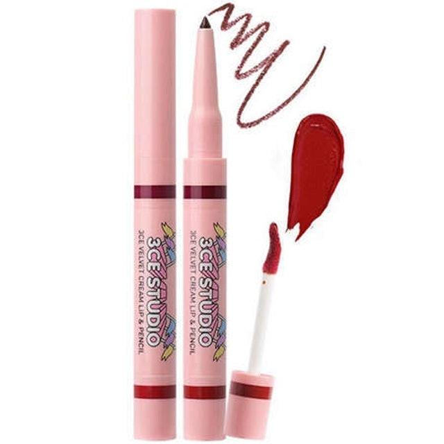 3CE Studio Velvet Cream Lip & Pencil -#Heart 1
