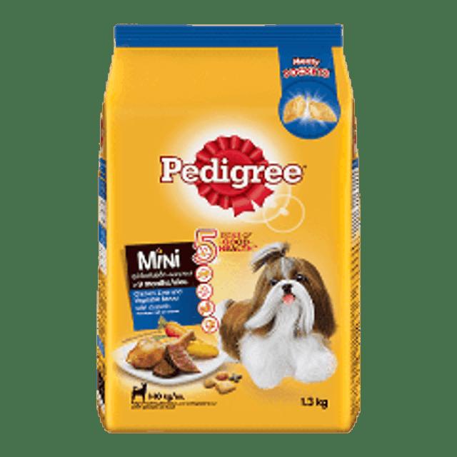 Pedigree อาหารสุนัขชนิดเม็ด สูตรสุนัขพันธุ์เล็ก รสไก่ตับและผัก 1