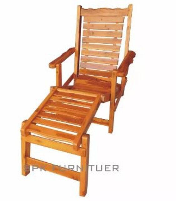 Spk shop เก้าอี้ไม้จริงปรับโยก 1