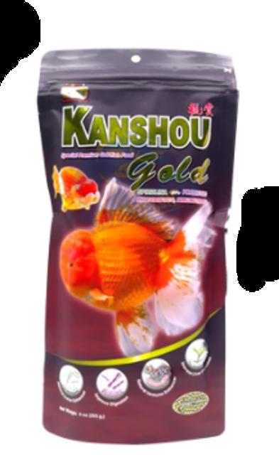 Kanshou อาหารปลาทอง สูตร Gold (สาหร่ายสไปลูริน่า) 1
