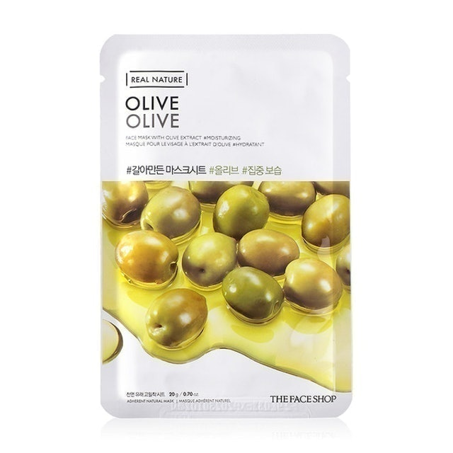 THE FACE SHOP แผ่นมาส์ก The Face Shop Real Nature Olive Face Mask 1