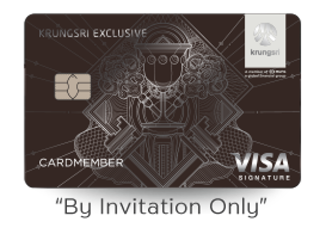 Krungsri Credit Cards บัตรเครดิตกรุงศรี เอ็กซ์คลูซีฟ ซิกเนเจอร์ 1