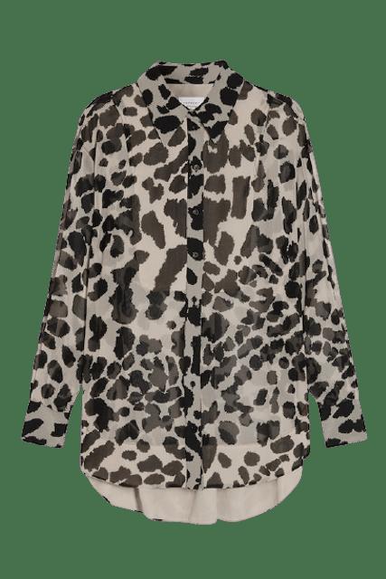 TOPSHOP เสื้อเชิ้ตผู้หญิง Tan Animal Oversized รุ่น 13M05STAN 1
