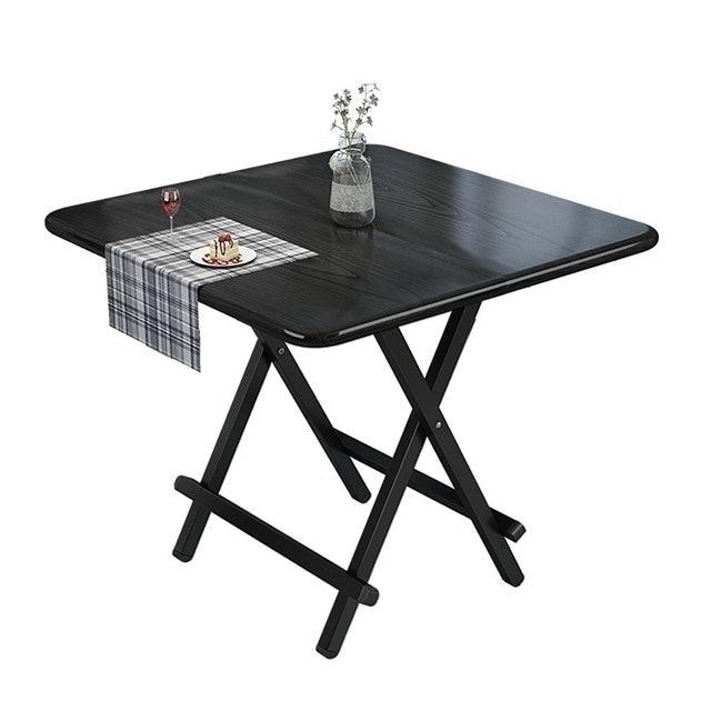 Softkiss โต๊ะกินข้าว โต๊ะกินข้าวขาเหล็กพับได้ 1