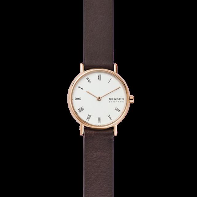 SKAGEN Signatur Brown Leather Watch 1