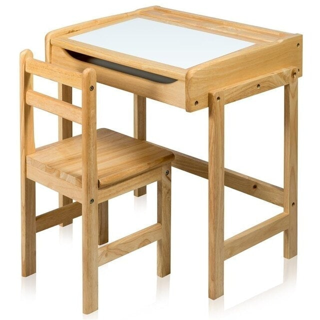 Furradec โต๊ะเขียนหนังสือเด็ก หน้าไวท์บอร์ด 1