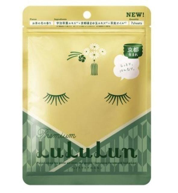 LuLuLun มาส์กหน้า รุ่น Kyoto Green Tea สูตรปกป้องมลภาวะให้กับผิว กลิ่นชาเขียว 1