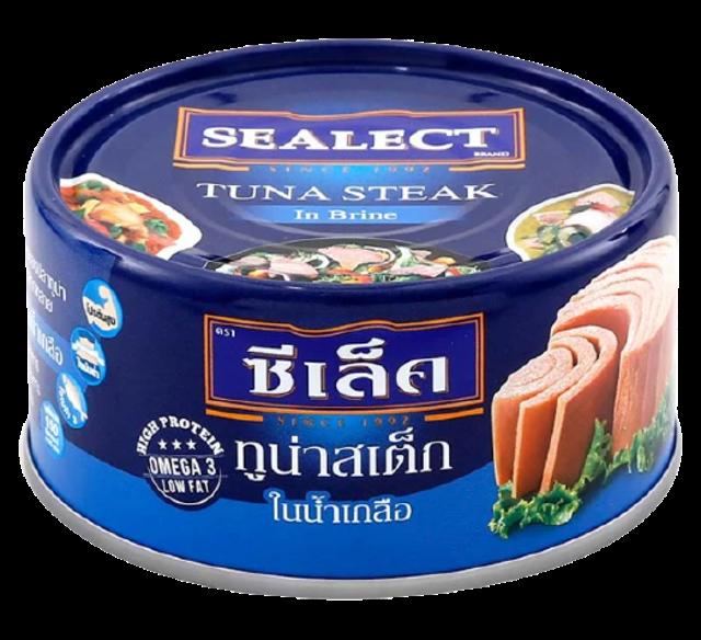 SEALECT อาหารแห้งในเซเว่น ทูน่าสเต๊กในน้ำเกลือ 1