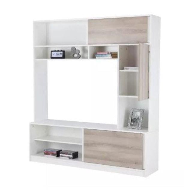 Index Living Mall  Matrix TV Cabinet+Hutch Wall Shelf (สีขาว) 1