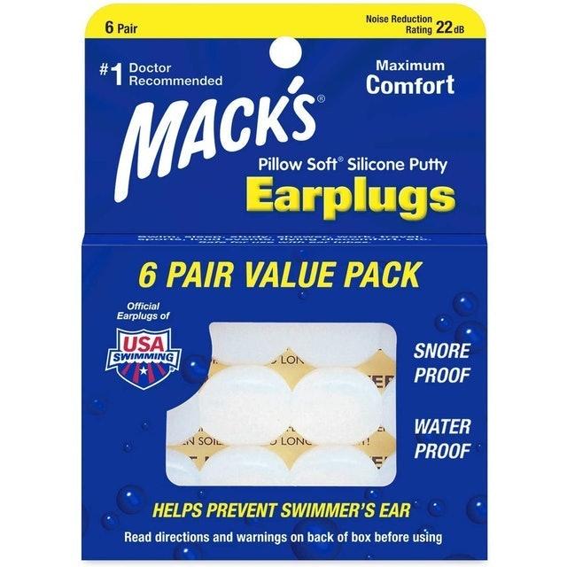 Mack's ที่อุดหูซิลิโคน รุ่นกันน้ำ 1