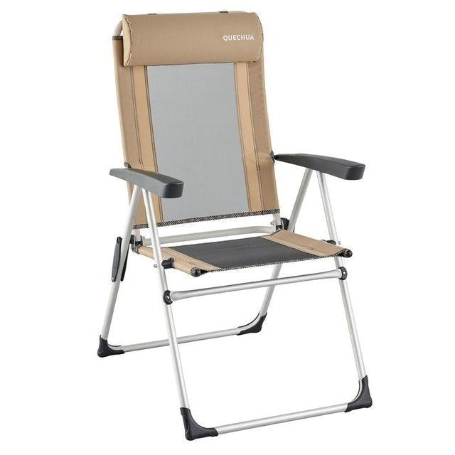 QUECHUA เก้าอี้สนาม เก้าอี้พับพร้อมที่วางแขนปรับเอนได้ 1