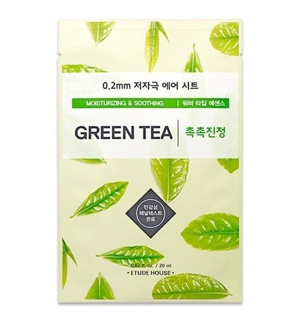 Etude House มาส์กหน้าเกาหลี 0.2 Air Mask Green Tea 1