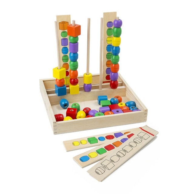 Melissa & Doug Bead Sequencing Set Classic Toy 1