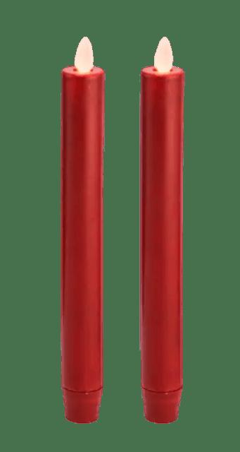 BASICS เทียน LED รุ่น Tapper LED Light Set Red 1