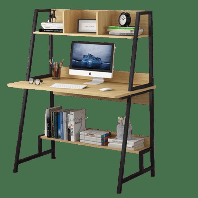 OUSHUMEI โต๊ะคอมพิวเตอร์ขาสามเหลี่ยม 1