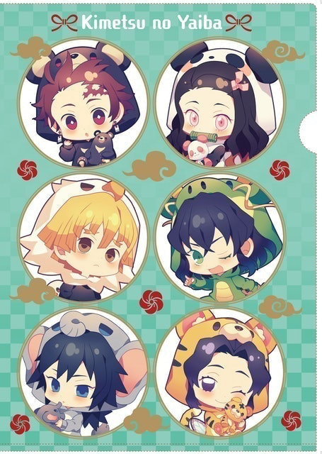 Animate BKK Kimetsu no Yaiba Oversea Limited Clear file Kigurumi Series 1