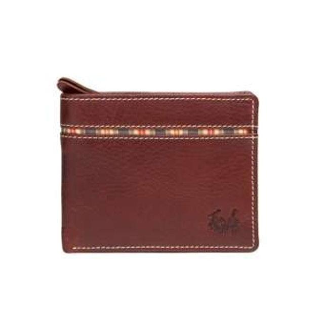 POLO WORLD กระเป๋าสตางค์ผู้ชาย มีช่องใส่เหรียญ รุ่น DU-11602 1
